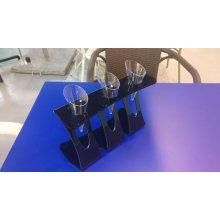 Expositor 3 Conos Helado Metacrilato Negro 4mm 24x7x15.5cm 0552.NEGRO Alexalo (1 ud)