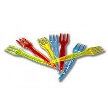Bolsa de 1000 Tenedores Mini de plastico colores surtidos TEN907 DICAPRODUCT (1 bolsa)