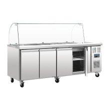 Mostrador frigorífico preparación GN 4 puertas con pantalla CT395 POLAR