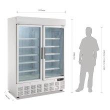 Vitrina congeladora 2 puertas panel iluminación exterior GH507 POLAR