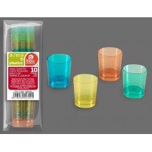 Bolsa de 10 Vasos de Chupito en colores surtidos de 33ml 272400 (1 bolsa)