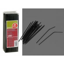 Caja de 180 Cañas Flexibles de color Negro de 210x5 mm 256800 (1 ud)