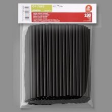 Bolsa de 180 Cañas de Cóctel de color Negro de 140x6,50 mm 267500 (1 ud)