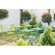 Mesa bistro cuadrada para terraza acero verde claro GK987 Bolero