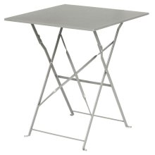 Mesa bistro cuadrada para terraza acero gris GK988 Bolero