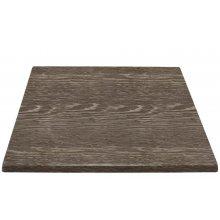 Tablero de mesa cuadrado 700x700 mm wengé veteado HC295 Bolero