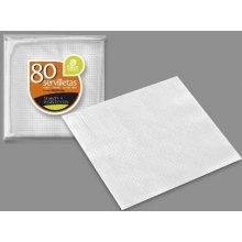 Paquete de 80 Servilletas Color Blanco de 1 Capa de 33x33cm 10095 BEST PRODUCT (1 ud)