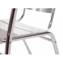 Silla apilable aluminio 735mm U419 Bolero (Juego de 4)