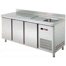Mesa Snack Refrigerada con Fregadero Fondo 600 3 puertas MRCH-200F