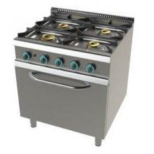 Cocina a gas modular 4 fuegos con horno y válvula termostática 800x730x900h mm FO7N401VT