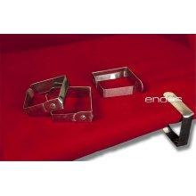 Pack de 4 pinzas sujeta-manteles de acero inoxidable PSM003 Dicaproduct (1 Pack)