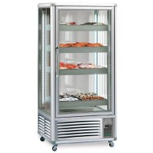 Armario refrigerado Doble Especial Pescado 4 caras de cristal 650 litros EUROFRED EXPONORM650P