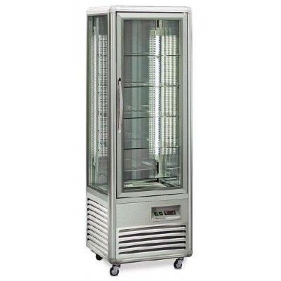 Armario refrigerado Especial Chocolates 4 caras de cristal 350 litros con 4 estantes rotativos EUROFRED SNELLE350RCHNEW