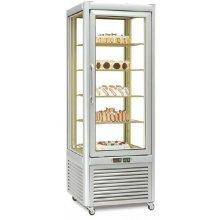 Armario refrigerado Especial Pastelería 4 caras de cristal 400 litros con 4 estantes fijos EUROFRED PRISMA400GTN