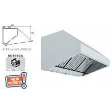 Campana Extracción Mural Hostelería en Acero Inoxidable SIN TURBINA de 2500x800x700h mm 25080CM