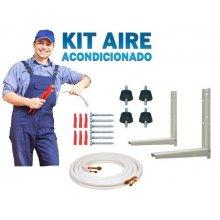 Kit Accesorios de Montaje Aire acondicionado con tubería 3 m de 1/4-3/8 KIT3AIRE3000