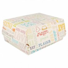 "Pack 50 Cajas Fast food ""Parole"" de 22,5x18x9cm Lunch box Blanco 219.99 Garcia de Pou (Pack 50 uds)"