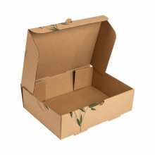"""Pack de 100 Cajas para llevar """" Feel Green"""" de 26x17x7cm 211.48 Garcia de Pou (Pack 100 uds)"""