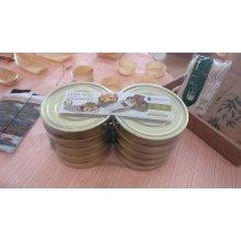 Pack de 10 Latas para Tapeo de 13 cm redondas en hojalata dorada 2816 SUPREMINOX (1 Pack)