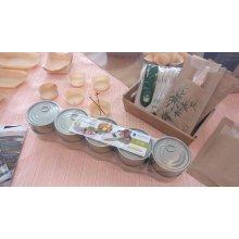 Pack de 10 Latas para Tapeo Redonda de 9 cm hojalata dorada 2813 SUPREMNOX (1 Pack)