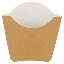Pack de 200 Cajetillas Patatas fritas Standard de 13x8x13,5cm Marrón 221.04 GDP (1 pack)