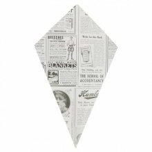 """Pack de 200 Cucuruchos Fritas """"TIMES"""" de 27x16cm Prensa 097.98 GDP (1 pack)"""