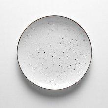 Plato llano DOTS Blanco de 26cm PV021100 PORVASAL (Caja 24 uds)