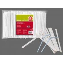 Bolsa de 100 Cañas de plástico enfundadas en Papel 257000 BEST PRODUCT (1 ud)