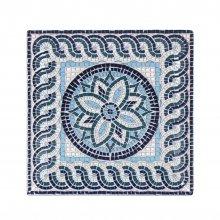Plato Llano Ming II Mayolica de 24x24x2cm B2974Y2 VIEJO VALLE (Caja 6 uds)