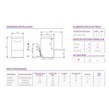 Lavavasos industrial cesta 35x35 cm EUROFRED Elettrobar FAST 30