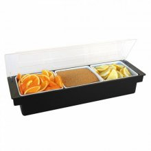 Dispensador de condimentos con 3 compartimentos color Negro 49.5x15.7x9cm 133.59 GDP (1 ud)