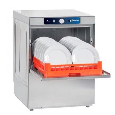 Lavavajillas industrial trifásico cesta 50x50cm con bomba desagüe AFG-720B EDENOX