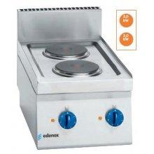 Cocina eléctrica 2 fuegos 2x2Kw Snack 650 SCE-40 E EDENOX