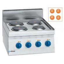 Cocina eléctrica 4 fuegos 2x2Kw Snack 650 SCE-60 E EDENOX