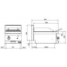 Barbacoa a Gas 40cm Snack 650 SGG-40 E EDENOX