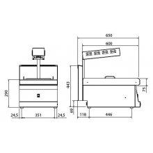 Conservador de Fritos 40cm GN1/1 Snack 650 SCFE-40 E EDENOX