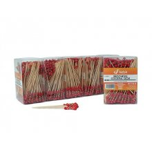 Pack 1000 Brochetas Bambu Cocktail de 12cm varios colores disponibles 0010101 Betik (1 pack)