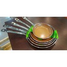 Sartén Cerámica cobre 3mm con inducción Mango inox nº20cm BI1706072 VIEIRA (1 ud)