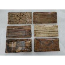 "Caja Surtida de 12 Bandejas Rectangulares de 30x17x3cm ""HERMES"" 6 diseños diferentes B981007A VIEJO VALLE (Caja 12 uds)"