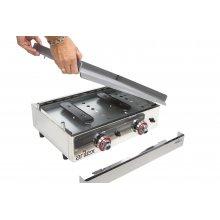Plancha a gas Profesional en acero laminado de 6 mm con medidas 410x457x240h mm 40PGL