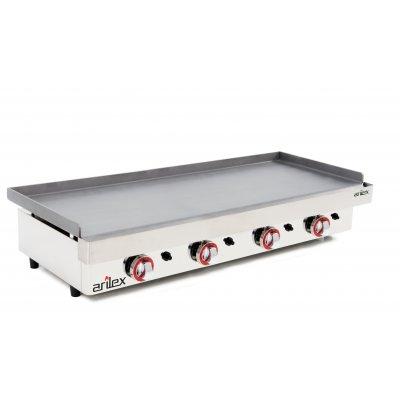 Plancha a gas Profesional en acero laminado de 6 mm con medidas 1210x457x240h mm 120PGL