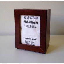 Caja de 70 paquetes de Servilleta miniservis Sulfito Blanca Decorada Frases de 17x17cm PD17S140FR Hostelcash (1 caja)