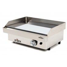 Plancha a gas cromo duro Profesional en acero 15 mm con medidas 610x457x240h mm 60PGC