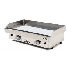 Plancha a Gas Cromo Duro Profesional en Acero 15 mm con medidas 810x457x265h mm 80PGC