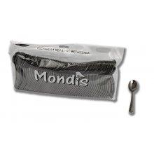 Paquete de 100 Cucharillas de plástico metalizada MONDIS CPP905 Dicaproduct (1 paquete)
