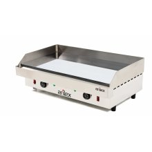 Plancha Asar Profesional eléctrica en acero de 15 mm con baño de cromo con medidas 810x457x240h mm 80PEC