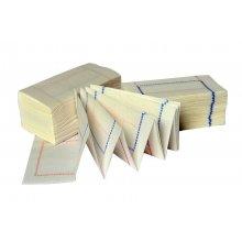 Caja de 100 paquetes de 300 Servilletas ZigZag de 14x14cm sulfito PZZ30010 (100 paquetes)