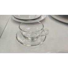 Set de 6 Tazas + 6 Platos de Café de 25cl Cristal 158-FM2074SET ALAR (1 set)