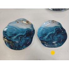 Plato LLano de 25cm Serie Stone Oro 4636-8051 Lubiana (Caja 6 uds)