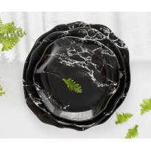 Plato Llano 28cm Stone Marmol Negro 4638-8063 Lubiana (caja 6 uds)